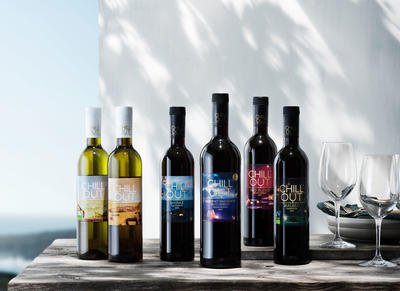 Chill Out wine bottles made of PET plastic